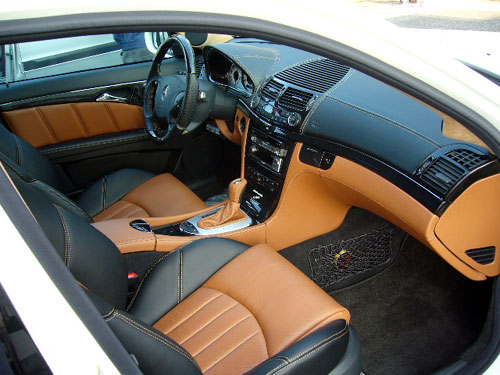 an exotic tan leather interior leather wrapped dash panels. Black Bedroom Furniture Sets. Home Design Ideas